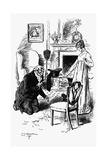 Sir Pitt Crawley and Becky Sharp - from Vanity Fair by William Makepeace Thackeray Giclee Print by Charles Edmund Brock