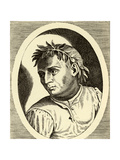 Giovanni Boccaccio - from Engraving by Philip Galle Giclee Print by Philip Galle