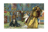 Claudius Flees a Re-Enactment of the Old King's Murder in Hamlet Giclee Print by Harold Copping