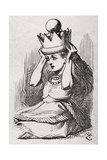Alice with Queen's Crown Giclee Print by John Tenniel
