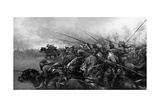 Charge! - the Bengal Lancers in Action Giclee Print by Christopher Clark