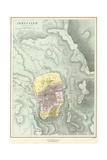 19th Century Map of Jeruslaem Giclee Print by Philip Richard Morris