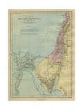 19th Century Map of the Sinai Peninsula (Egypt) Illustrating the Patriarchal Period Giclee Print by Philip Richard Morris