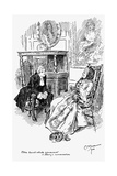 Madam Bernstein and Harry from  the Virginians - Written by William Makepeace Thackeray Giclee Print by Charles Edmund Brock