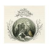 Winter by William Shakespeare - Sonnet from Loves Labours Lost Giclee Print by Myles Birket Foster