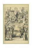 Lewis Carrolls (1832-1898) Book Alices Adventures in Wonderland Giclee Print by John Tenniel