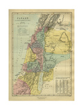 19th Century Map of Canaan Giclee Print by Philip Richard Morris