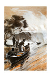 David Livingstones Discovery of the Victoria Falls, Zambesi River, 1855 Giclee Print by George Soper