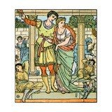 Sleeping Beauty Written and Illustrated by Walter Crane and Published in 1914 Giclee Print by Walter Crane