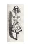 Alice Growing and Growing after Eating the Cake, from Alice in Wonderland by Lewis Carroll Giclee Print by John Tenniel