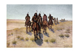 Native American Apache Men Going to War Giclee Print by Charles Craig