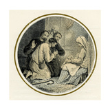 Adoration of the Magi Illustration by Birket Foster, 1872 Giclee Print by Myles Birket Foster
