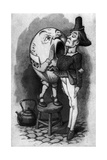 Humpty Dumpty and the Messenger - from Through the Looking Glass and What Alice Found There Giclee Print by John Tenniel