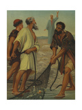 Christ Preaching the Gospel to Fishermen at the Sea of Galilee (Mark 1:14-20) Giclee Print by Philip Richard Morris