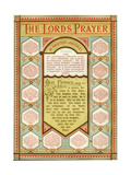 Illustrated Version of the Lord's Prayer in Fourteen Languages Including Hebrew Giclee Print by Philip Richard Morris