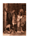 William Shakespeare's Play Antony and Cleopatra (Act Iii, Scene 11) Giclee Print by Frank Dicksee