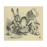 The Doormouse in the Tea Pot, after a Scene from Lewis Carrolls Alices Adventures in Wonderland Giclee Print by John Tenniel
