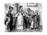 Charles Dickenss The Life and Adventures of Nicholas Nickleby Giclee Print by Frederick Barnard
