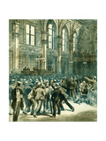 Men on the Floor of the New York Stock Exchange, Wall Street, 1880S Giclee Print by Charles Graham