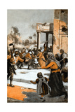 The Highlanders at the Relief of Lucknow, 1857 Giclee Print by George Soper