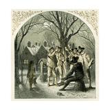 Wassailing Fruit Trees - Illustration by Birket Foster, 1872 Giclee Print by Myles Birket Foster