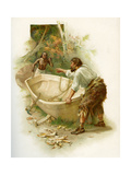 The Life and Adventures of Robinson Crusoe by Daniel Defoe Giclee Print by Joseph Finnemore