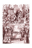 Who Stole the Tarts Trial of Knave of Hearts from Alice in Wonderland by Lewis Carroll Giclee Print by John Tenniel