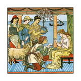 Babys Bouquet - Old Rhymes and Tunes Giclee Print by Walter Crane