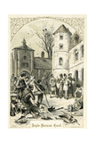 Anglo- Normal Carol - Illustration by Birket Foster, 1872 Giclee Print by Myles Birket Foster
