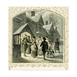 Carol for a Wassail Bowl - Illustration by Birket Foster, 1872 Giclee Print by Myles Birket Foster