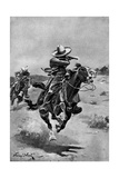 Rurales (National Frontier Police of Mexico) Skirmishing on the Border Giclee Print by Stanley L. Wood