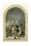 Bell Ringers - Illustration by Birket Foster, 1872 Giclee Print by Myles Birket Foster