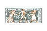 The Three Golden Apples Giclee Print by Walter Crane