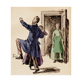 The Diary of a Nobody - Illustration of a Scene from the Book by George and Weedon Grossmith Giclee Print by Weedon Grossmith
