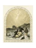 Angel Appears to Shepherds - Nativity Scene Giclee Print by Myles Birket Foster