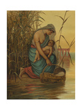 The Infant Moses and His Mother Giclee Print by Philip Richard Morris