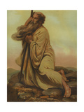 Moses Viewing the Promised Land (Canaan) from Mount Nebo (Deuteronomy:34) Giclee Print by Philip Richard Morris