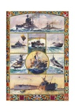 Battleships in British Navy at the Start of World War I - from Painting by C Giclee Print by C.e. Turner