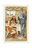 The Strangers Entertained, Zeus and Hermes Disguised as Peasants Giclee Print by Walter Crane