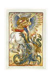 Bellerophon Slays the Chimaera / Chimera Giclee Print by Walter Crane