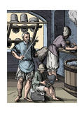Hatter / Milliner in His Workshop, 16th Century Giclee Print by Jost Amman