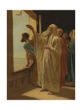 Noah Releasing a Dove from the Ark after the Flood Subsided (Genesis 8:6) Giclee Print by Philip Richard Morris