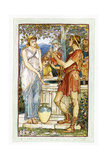 Bellerophon at the Peirene / Pirene Fountain Giclee Print by Walter Crane