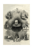 William Shakespeare - Histories Frontispiece Giclee Print by G. Greatbach