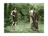 Timon of Athens (Act V, Scene 1) Play by William Shakespeare Giclee Print by Rudolf Eichstaedt