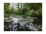 Monet Pond 2 Premium Giclee Print by Sarah Butcher
