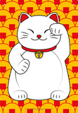 Lucky Cat Tin Sign