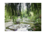 Monet's Tranquil Gardens Premium Giclee Print by Sarah Butcher