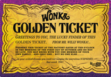 Willy Wonka - Golden Ticket Tin Sign