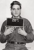 Elvis - Enlistment Photo Blikskilt